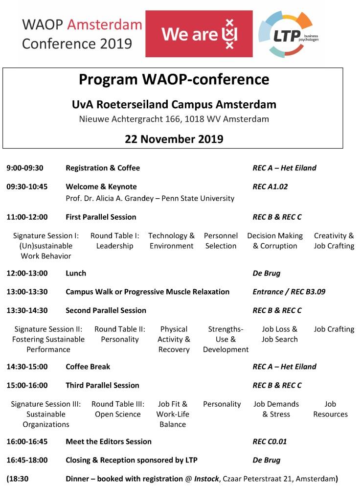 WAOP 2019 program